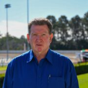 Mick Ko'cass with the Late Mail for Menangle